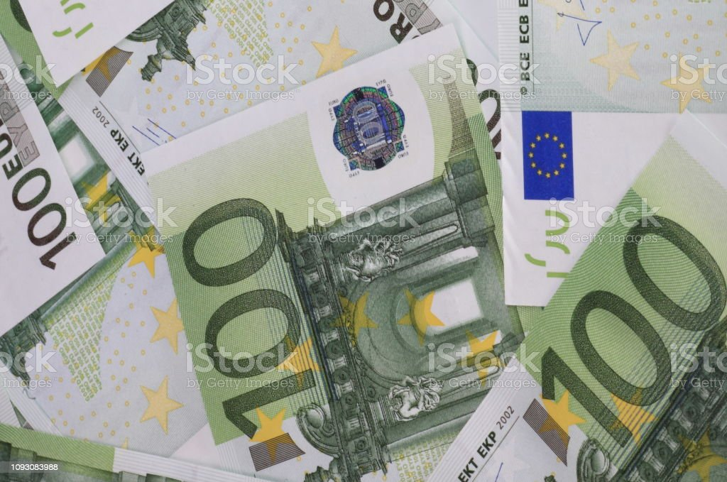 europe euros banknote of hundreds stock photo