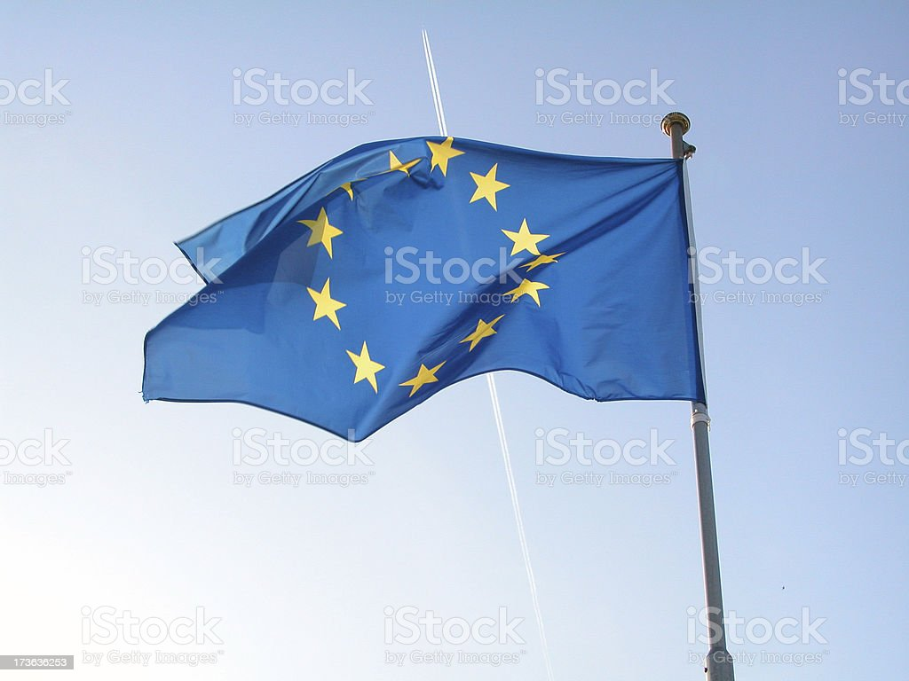 Europe Flag 01 royalty-free stock photo