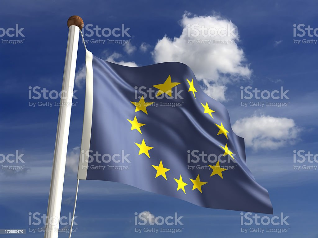 Europe flag (with clipping path) royalty-free stock photo