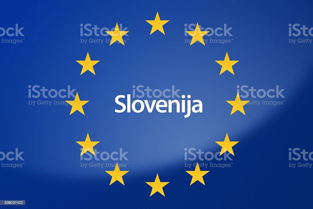 Bandera de Europa foto de stock libre de derechos