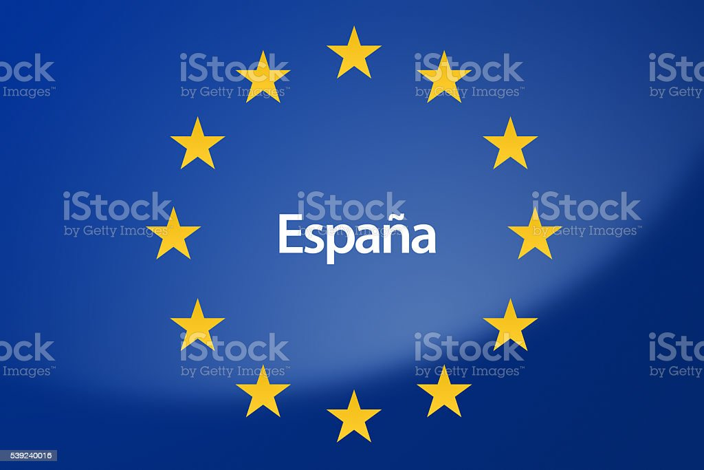 Europe flag royalty-free stock photo