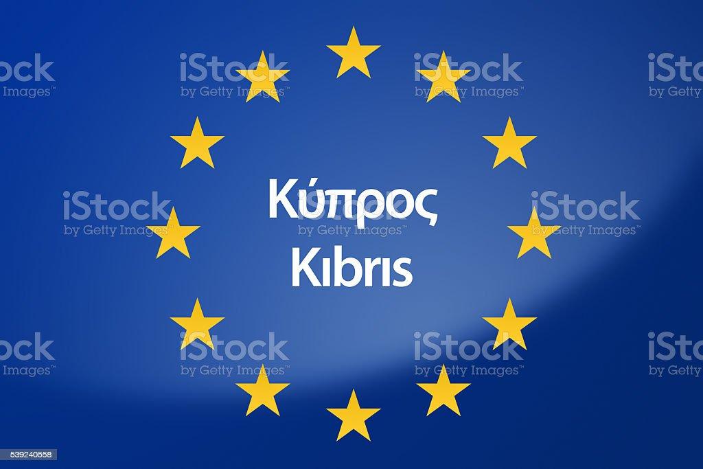 Europe flag royalty-free stock photo