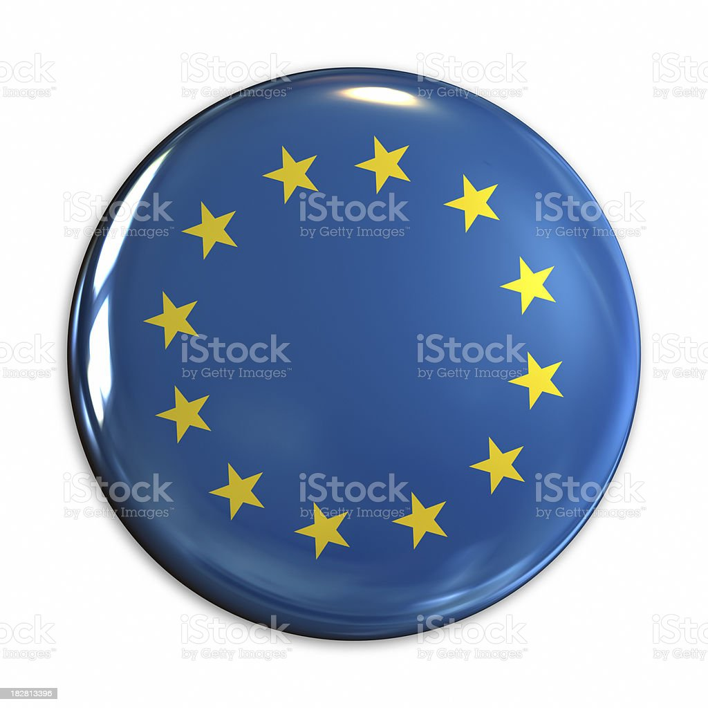 Europe flag pin royalty-free stock photo