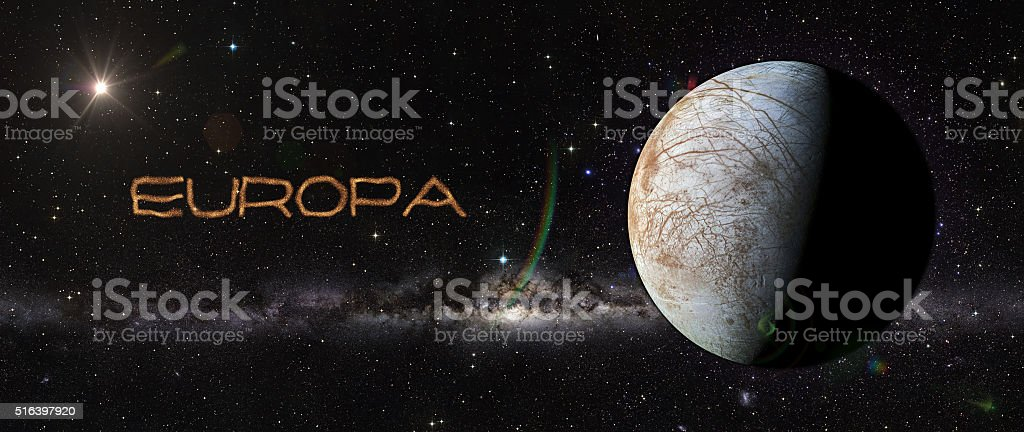 Europe in outer space. stock photo