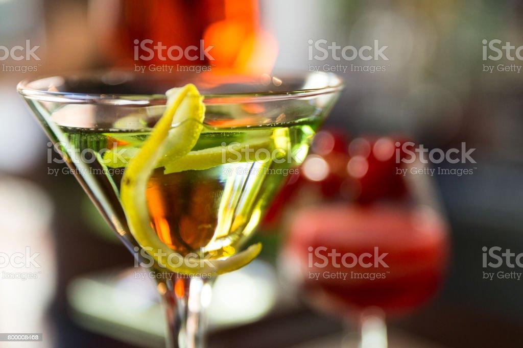 Europe, Italy, Helvetia Thermal SPA Hotel Porretta Terme cocktails stock photo