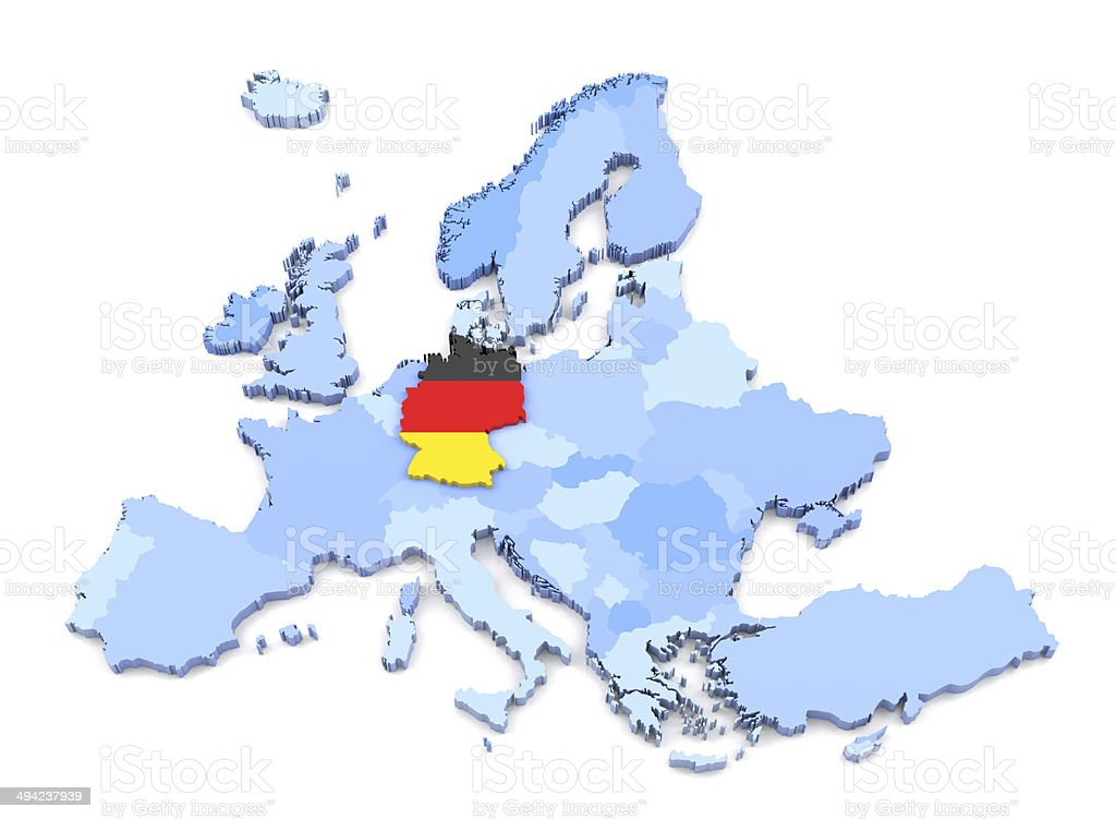 europe map germany with flag royalty free stock photo