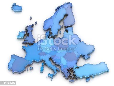 istock Europe map isolated 184153995