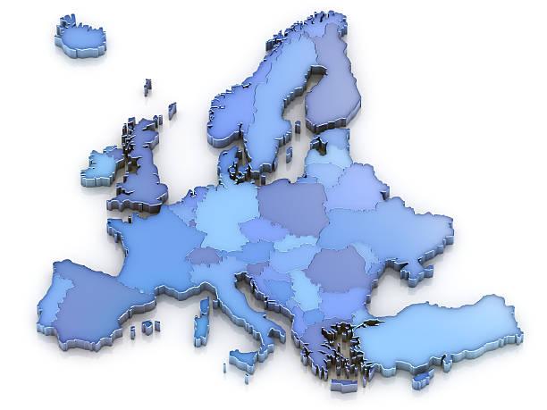 europa karte isoliert - ec karte stock-fotos und bilder