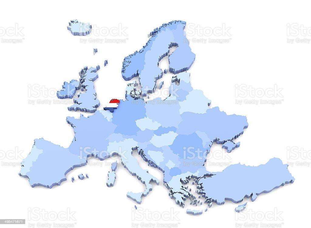 Cartina Mondo Con Bandiere.Europa Mappa Con Bandiera Paesi Bassi Fotografie Stock E Altre Immagini Di Bandiera Istock
