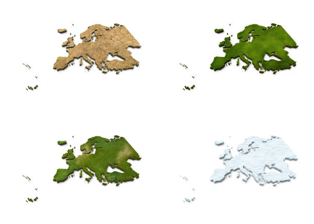 3D Europe Map stock photo