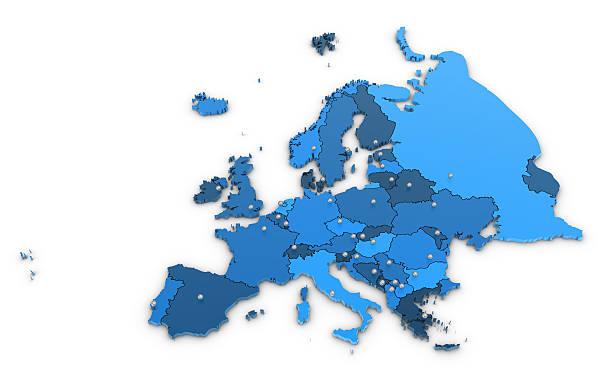 europa karte - ec karte stock-fotos und bilder