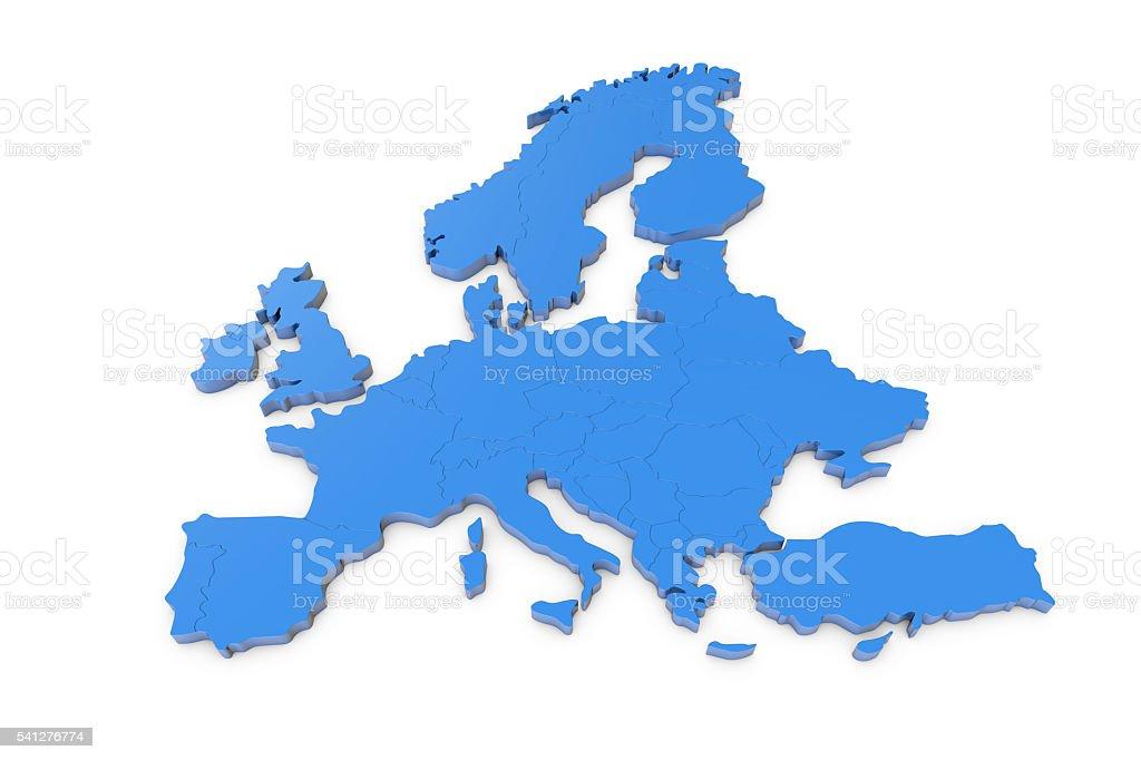 Europe map stock photo