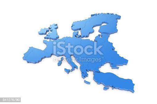istock Europe map 541276790