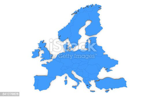 istock Europe map 541276828