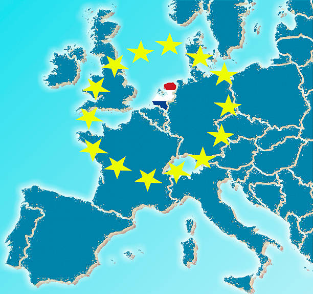 Europe Map With Netherlands Flag Stock Photo Istock