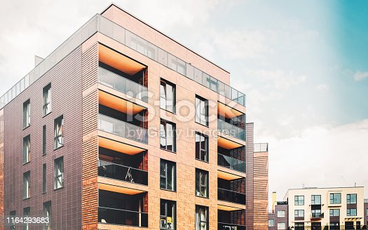 1165384568 istock photo Europe Modern architectural residential buildings quarters 1164293683