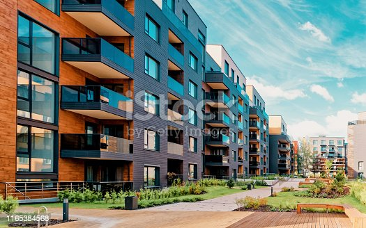 istock Europe modern complex of residential buildings 1165384568