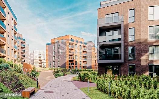 949087660 istock photo Europe Modern european architecture of residential buildings quarter 1164293595