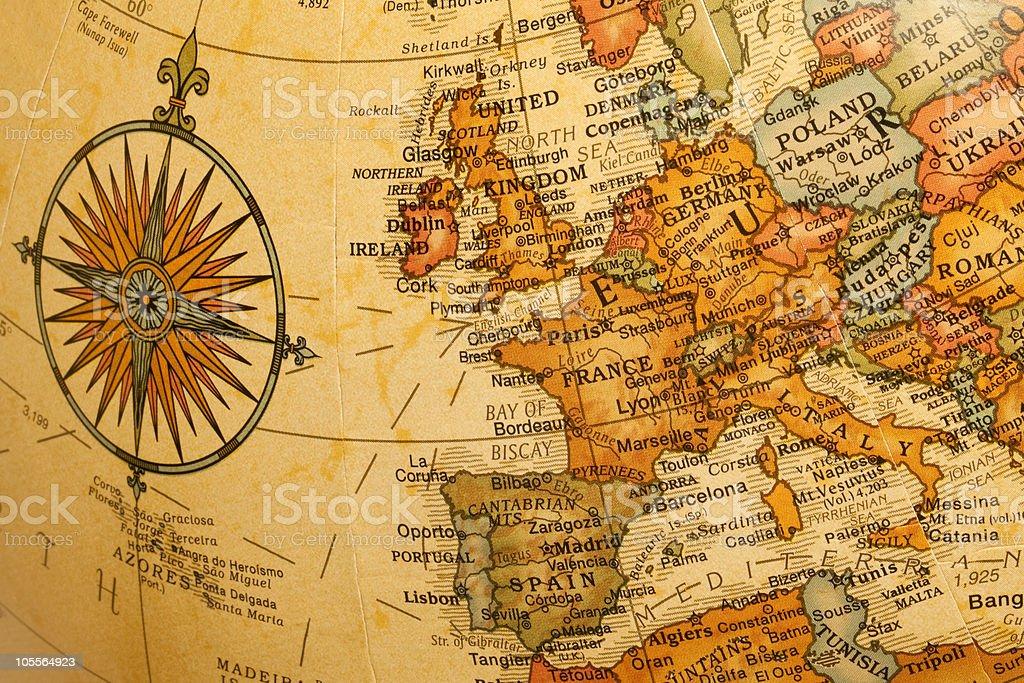 Europe on the Globe stock photo