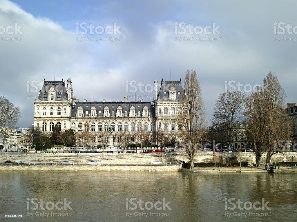 Europe Paris Hotel de Ville stock photo