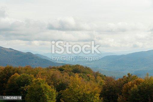 istock Europe, Poland, Podkarpackie Voivodeship, Bieszczady, Polonina Carynska - Bieszczady National Park. View from Polonina Carynska. 1286356319