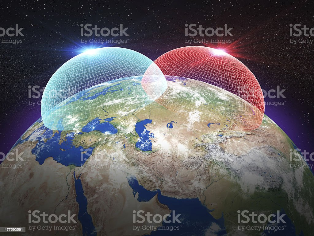 Europe Russia Missile Defence System royalty-free stock photo