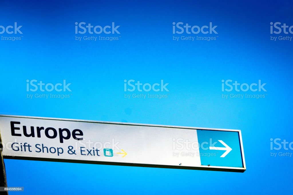 Europe sign stock photo
