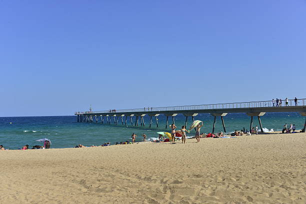 Europa, España, Badalona, puente del Petroli, aceite, gasolina Bridge - foto de stock