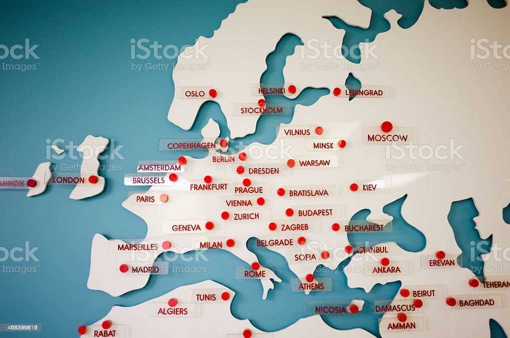 europe travel destination map royalty free stock photo
