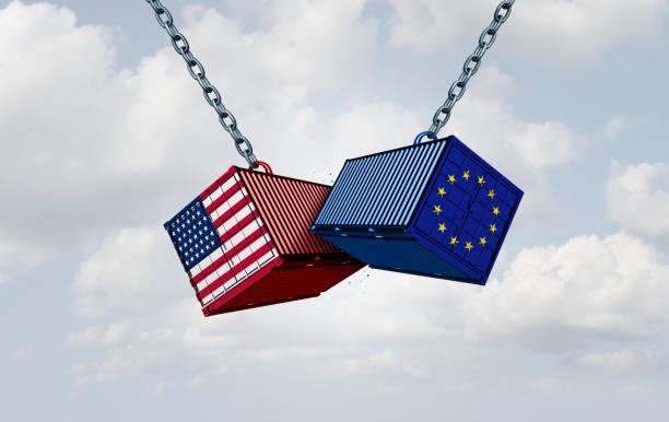 europa usa tarif krieg - deutschland usa stock-fotos und bilder