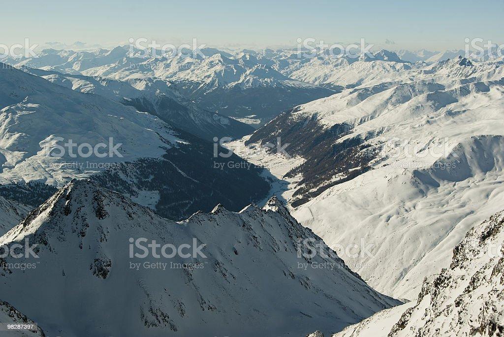 European Alps in winter royalty-free stock photo