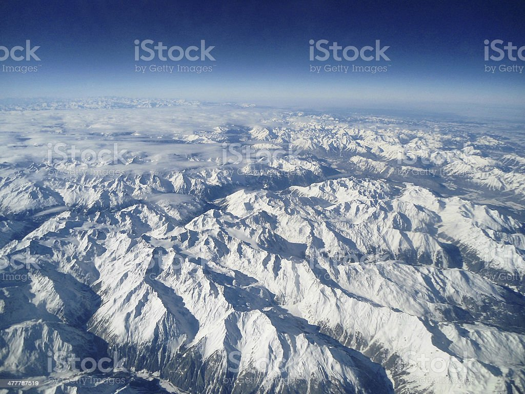 European Alps - XL royalty-free stock photo