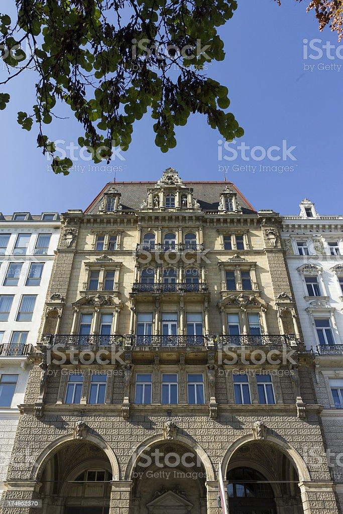 European apartment house royalty-free stock photo