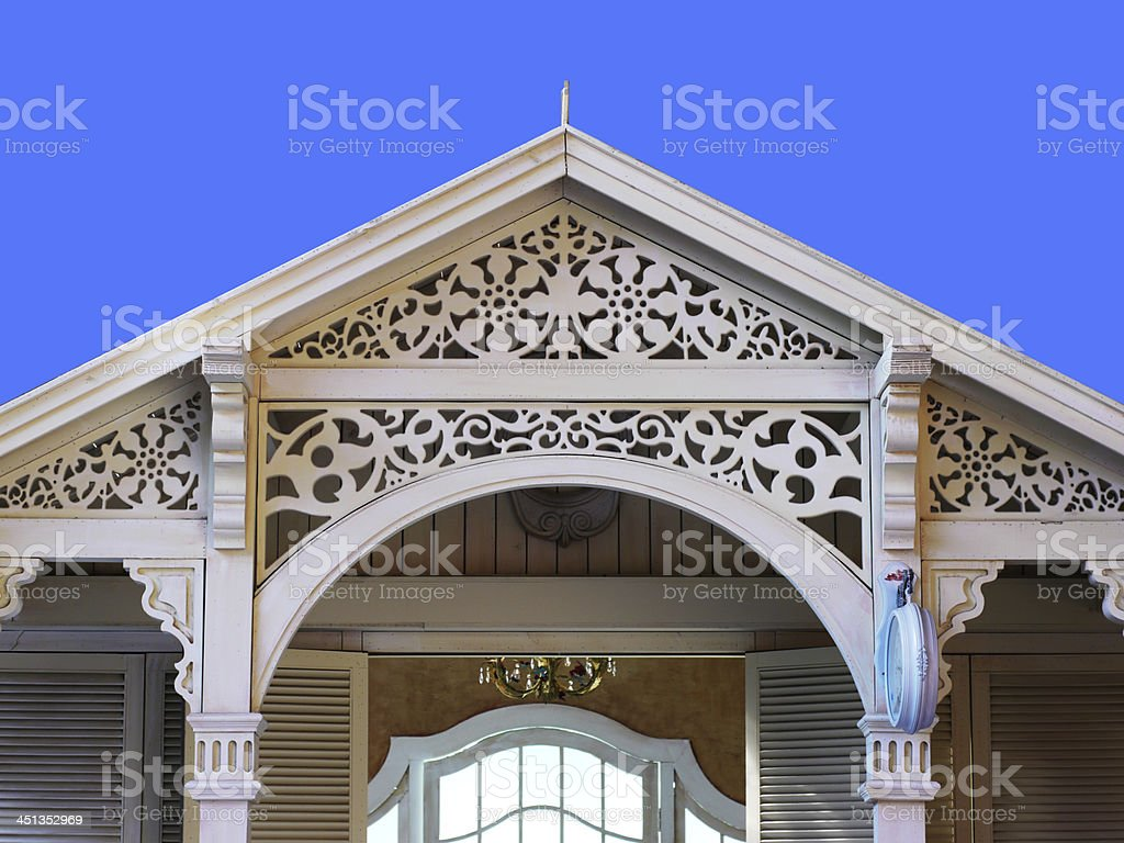 European architectural style of the cabin royalty-free stock photo