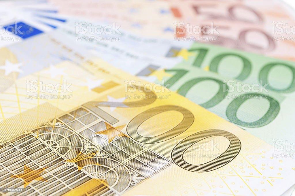 European banknotes royalty-free stock photo