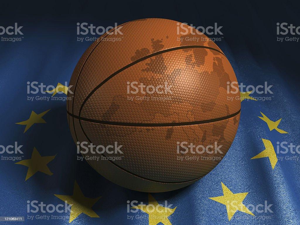 European basketball stock photo