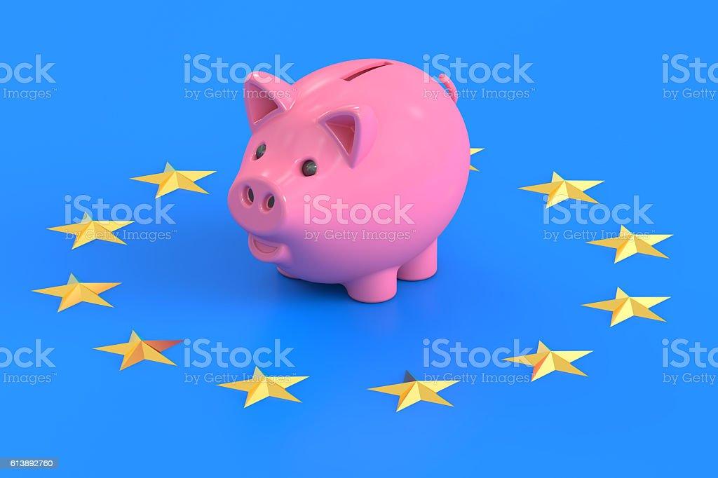 European Central Bank concept, 3D rendering stock photo