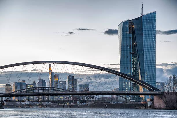 ezb, ezb, die europäische zentralbank, frankfurt - main stock-fotos und bilder