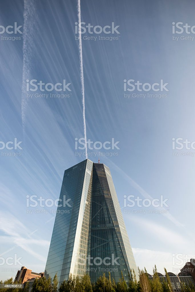 ECB, EZB, European Central Bank, Frankfurt stock photo