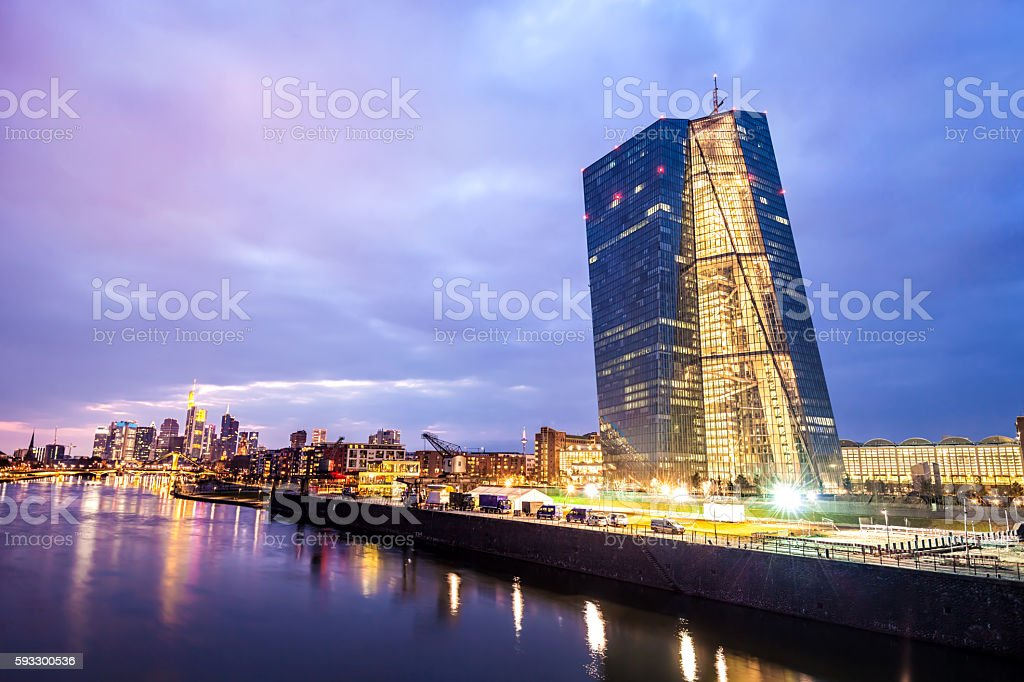 ECB, European Central Bank Frankfurt stock photo
