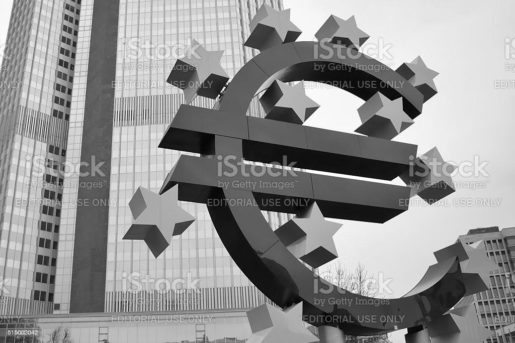 European central bank in Frankfurt stock photo