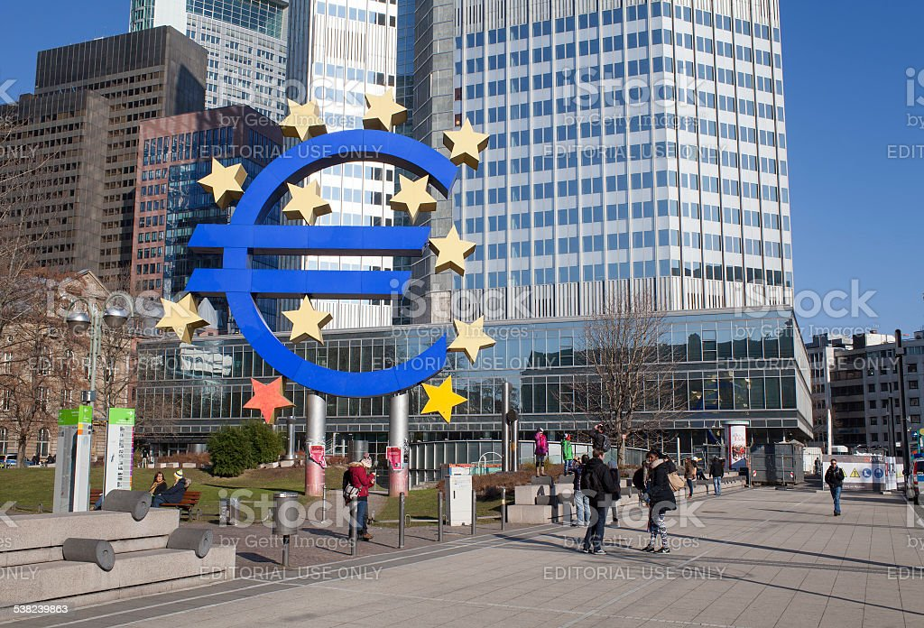 European Central Bank stock photo