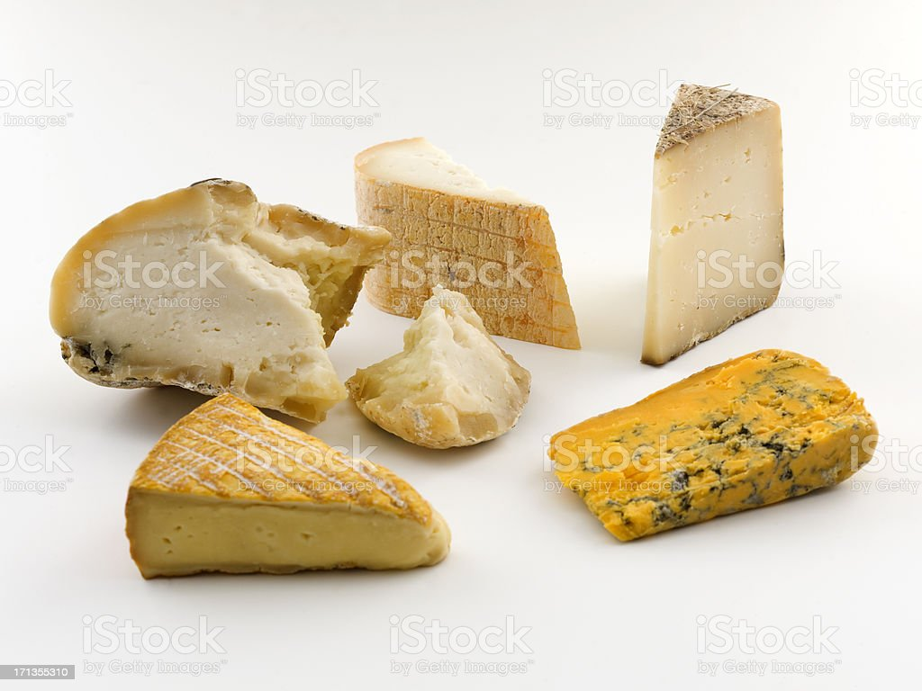 european cheesees stock photo