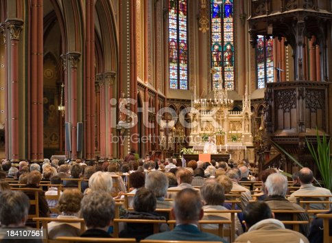 istock European church service 184107561