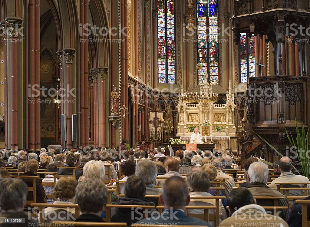 European church service stock photo