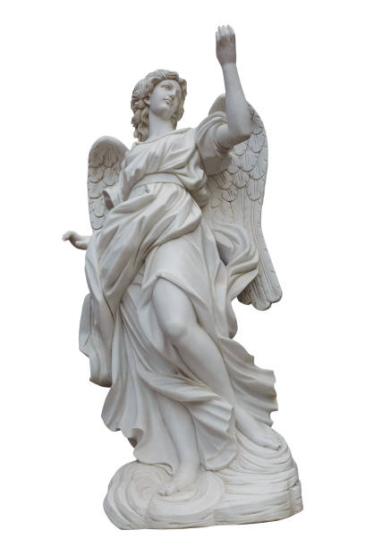 european church winged angel sculpture,ps path map - statua foto e immagini stock