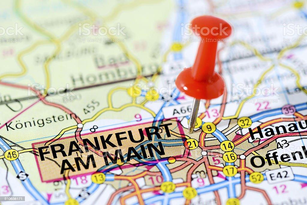 Frankfurt Karte Europa.Europäischen Städten Auf Karteserie Frankfurt Am Main Stockfoto Und