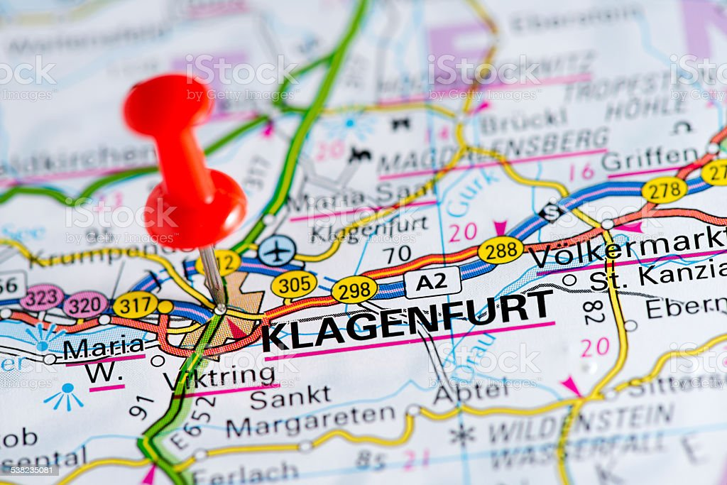 European Cities On Map Series Klagenfurt stock photo iStock