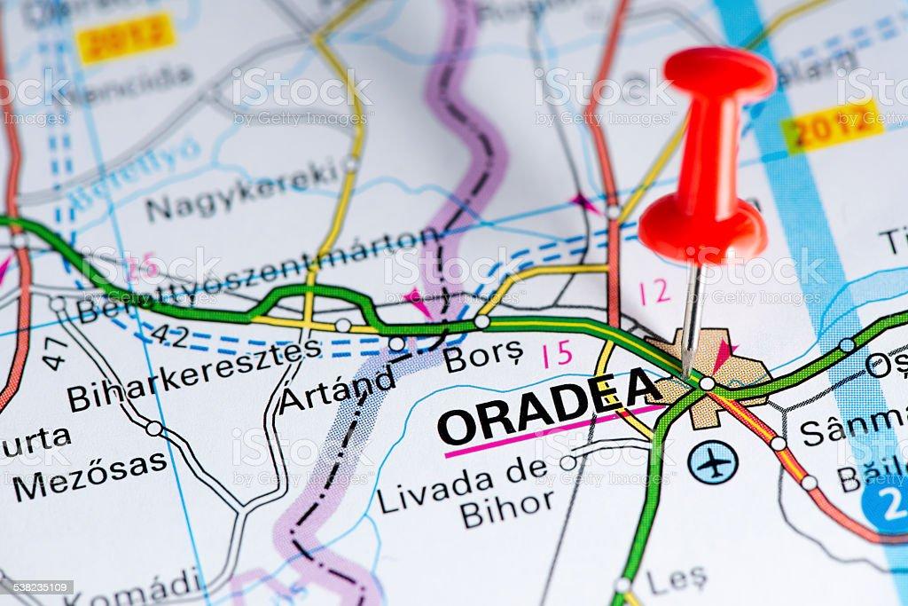 European Cities On Map Series Oradea stock photo iStock