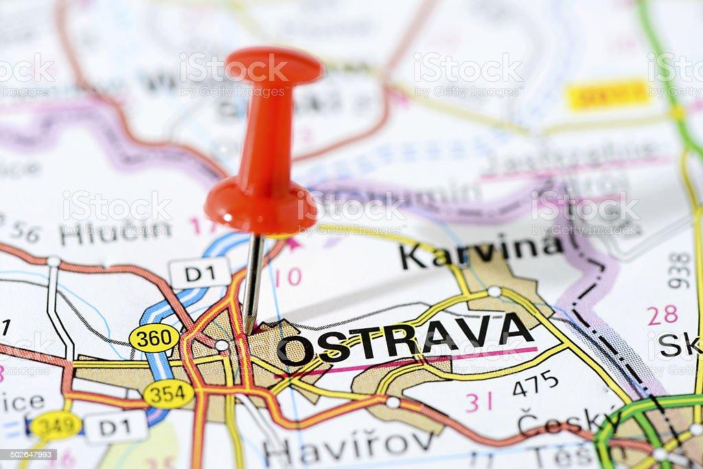 European Cities On Map Series Ostrava stock photo 502647993 iStock